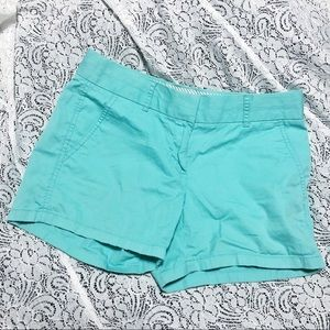 J. Crew Broken-In Cotton Chino Shorts Mint Size 0